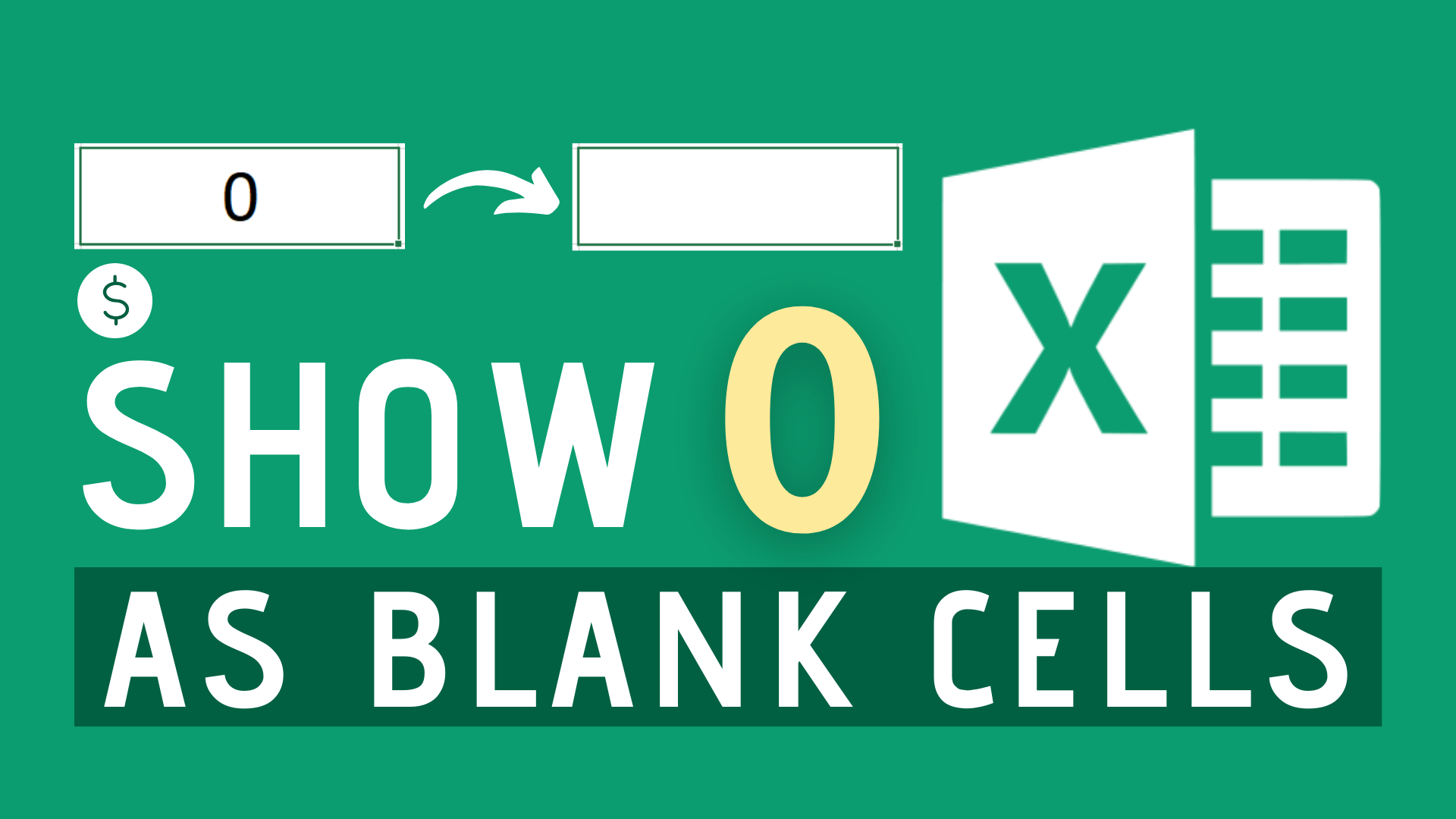 How to Show Zeros as Blank Cells In Excel   Dollar Excel